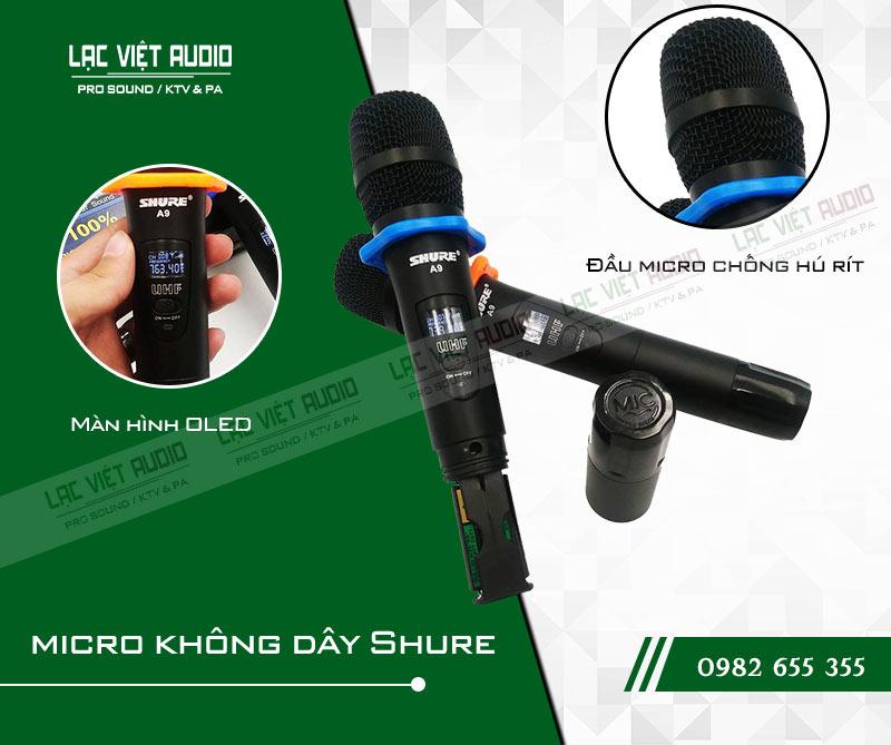 Thiết kế bên ngoài của sản phẩmMicro Shure A9