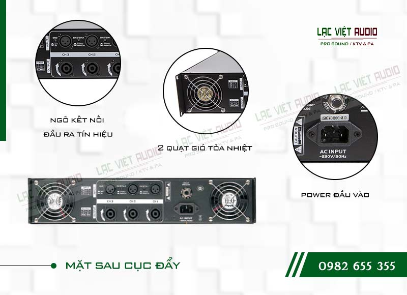 Thiết kế bên ngoài của sản phẩmCục đẩy công suất Soundking AA 4003