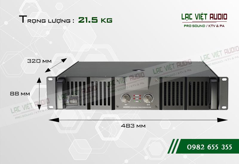 Thiết kế bên ngoài của sản phẩmCục đẩy công suất Soundking AE 2200