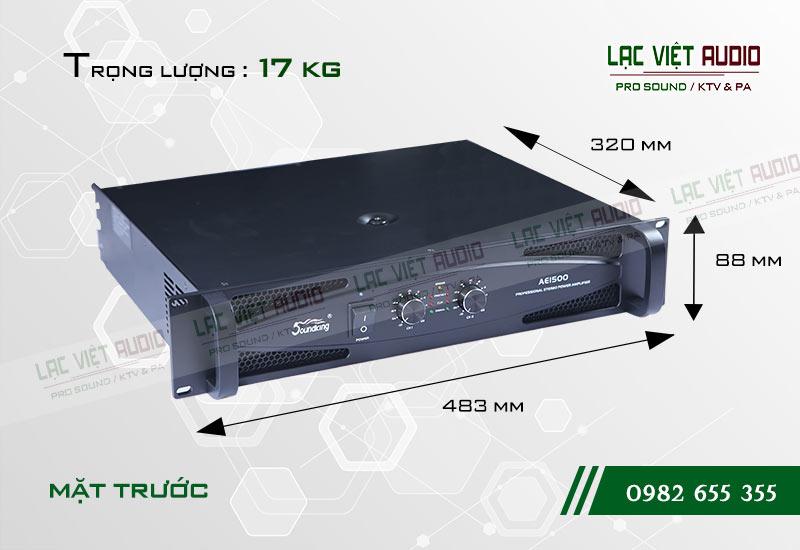 Thiết kế bên ngoài của sản phẩmCục đẩy công suất Soundking AE 1500