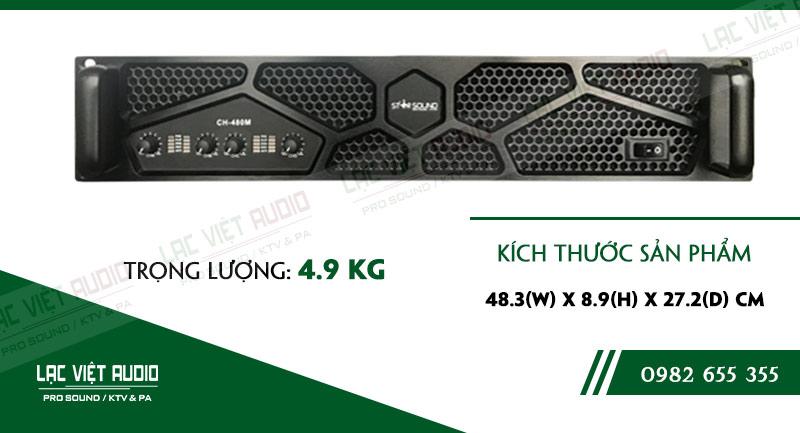 Thiết kế bên ngoài của sản phẩmCục đẩy công suất Star Sound CH 480M