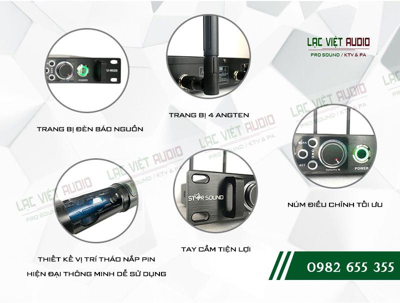 Các tính năng độc đáo của sản phẩm Micro không dây Star Sound U9020