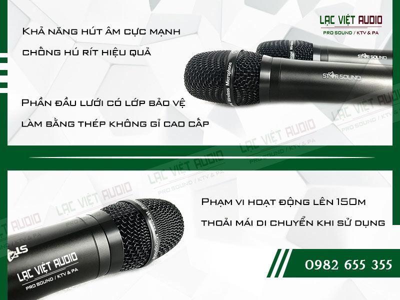 Thiết kế bên ngoài của sản phẩm Micro không dây Star Sound U9020