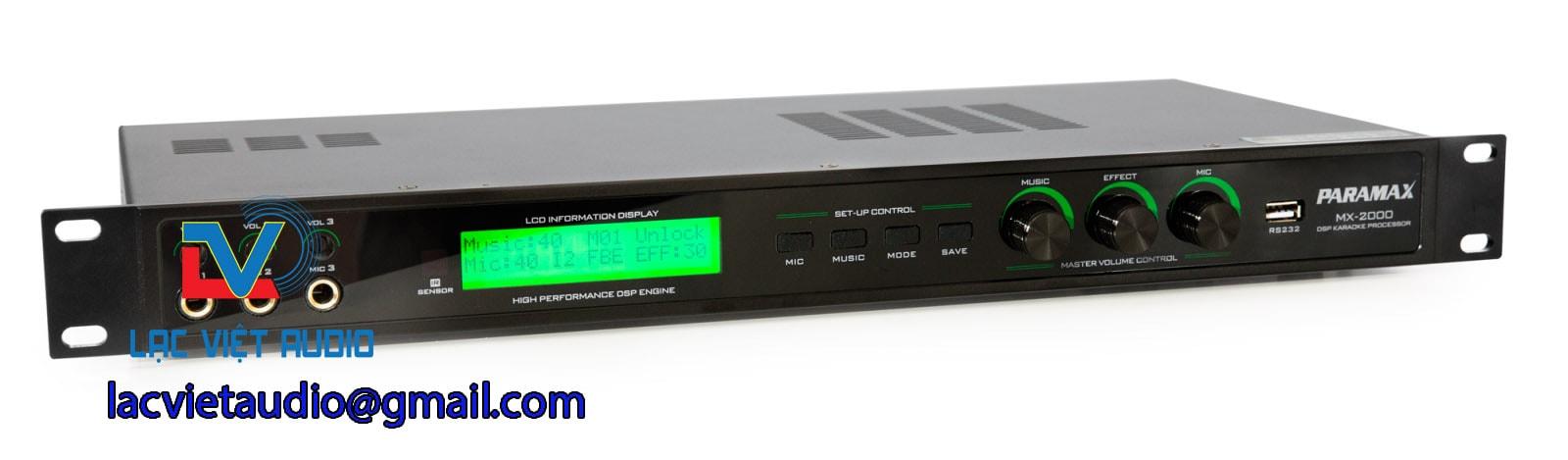 Vang số karaoke paramax MX-2000