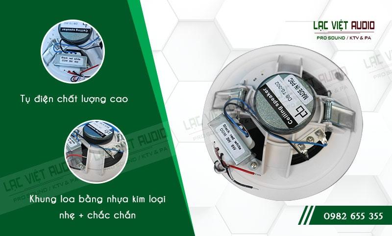 Tụ điện và khung loa chất lượng cao là ưu điểm của sản phẩm
