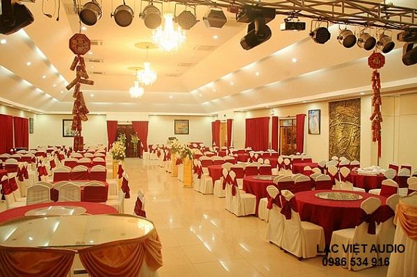 Âm thanh nhà hàng tiệc cưới