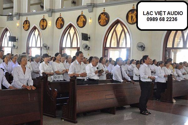 Sử dụng hệ thống âm thanh BOSCH làm âm thanh nhà thờ giảng lễ