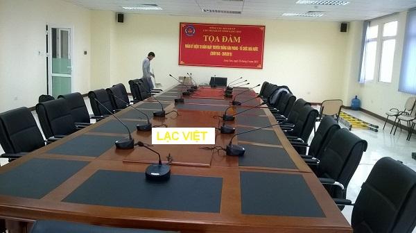 Phòng hội họp TỌA ĐÀM 150M tòa nhà Mitec do công ty cung cấp âm thanh sử dụng hệ thống TOA