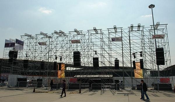 Hệ thống âm thanh cho sân vận động ngoài trời