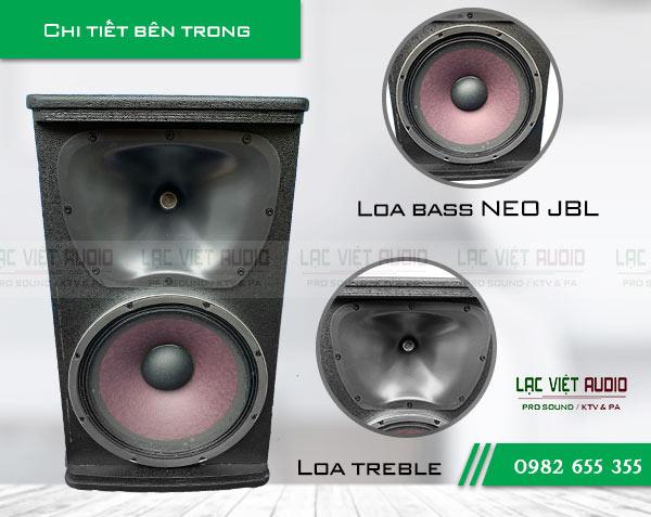 Loa JBL KP-6012 có 2 củ loa bass và treble