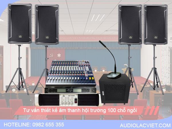 Cấu hình âm thanh hội trường 100 chỗ ngồi được sử dụng phổ biến
