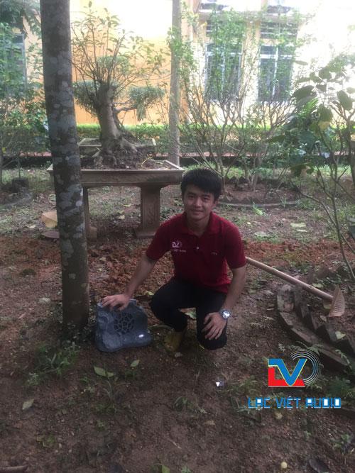 Lắp đặt loa giả đá cho bệnh viện Hùng Vương
