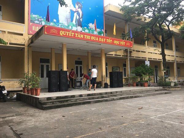 Dàn âm thanh sân khấu cho trường Tiểu học Ngũ Hiệp