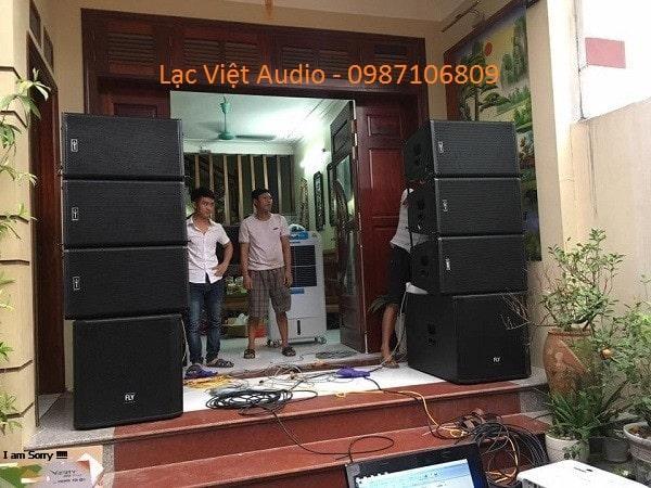 Dàn loa array về tỉnh Bắc Giang