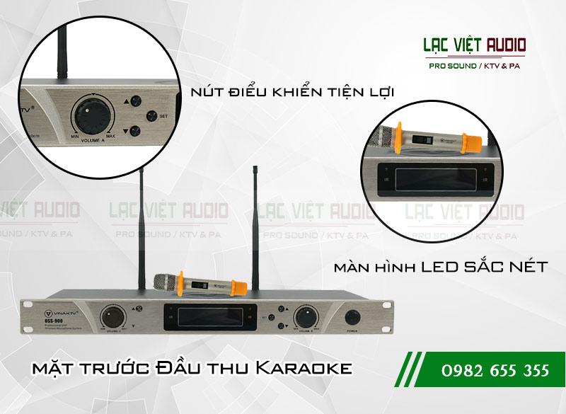 Mặt trước đầu thu Micro không dây VinaKTV USS900