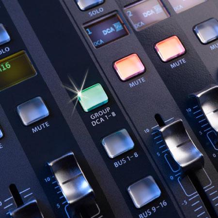 Các phím chức năng của bàn Mixer Behringer X32 EU