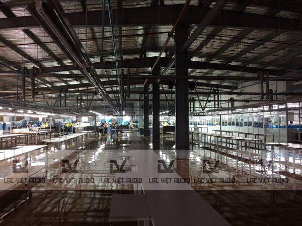 Dự án âm thanh nhà xưởng cho tổng công ty dệt may Nam Định