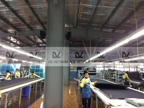Hệ thống điều khiển âm thanh ở nhiều phân xưởng khác nhau
