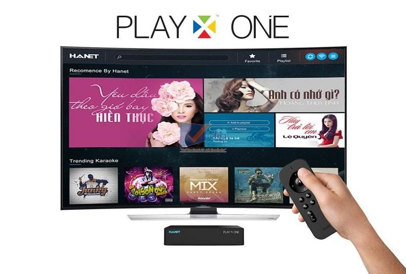 Đầu karaoke Hanet PlayX One 1TB kết nối TV