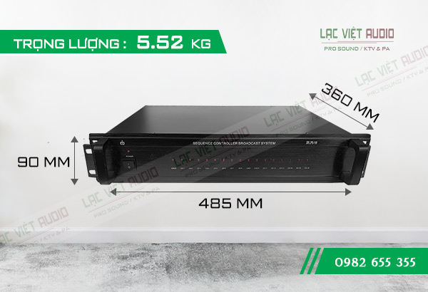 Kích thước sản phẩm Bộ Auto nguồn DB LP-116