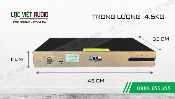 Kích thước Đầu karaoke BTE S650