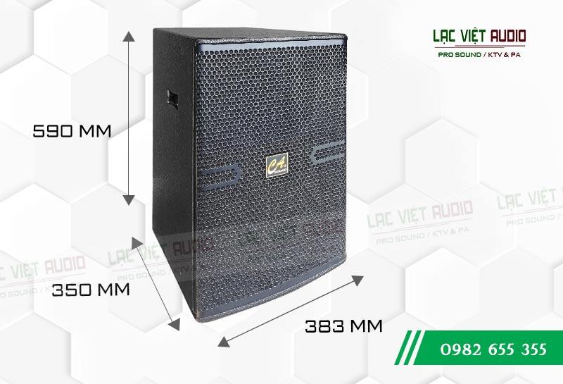 Kích thước sản phẩm Loa CA Sound F-2012