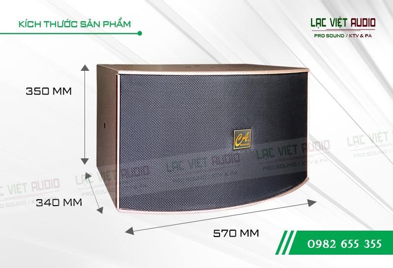 Kích thước sản phẩm Loa CA Sound K-312