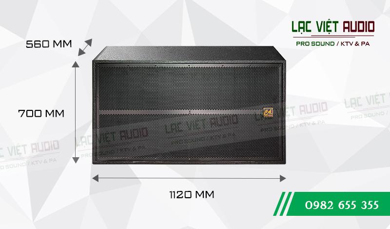 Kích thước sản phẩm Loa sub CA Sound S-218