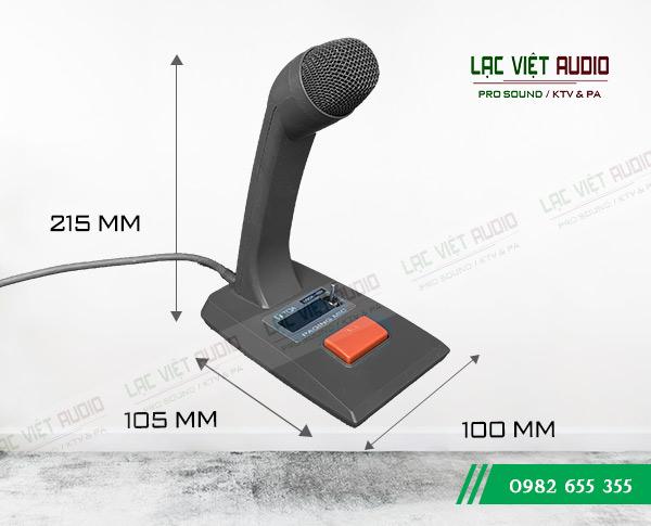 Kích thước Micro để bàn TOA PM-660D