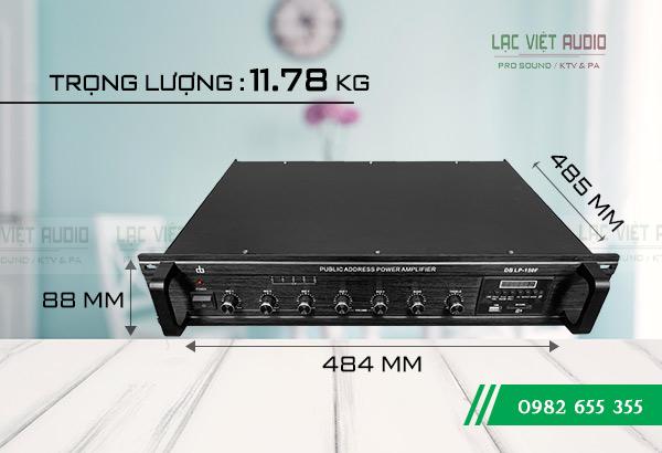 Kích thước sản phẩm Amply DB LP-150F