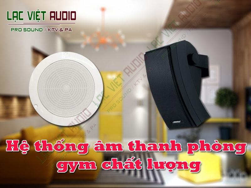 Hệ thống âm thanh phòng gym chất lượng