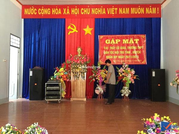 Lắp đặt dàn âm thanh hội trường cho UBND xã Hà Vinh
