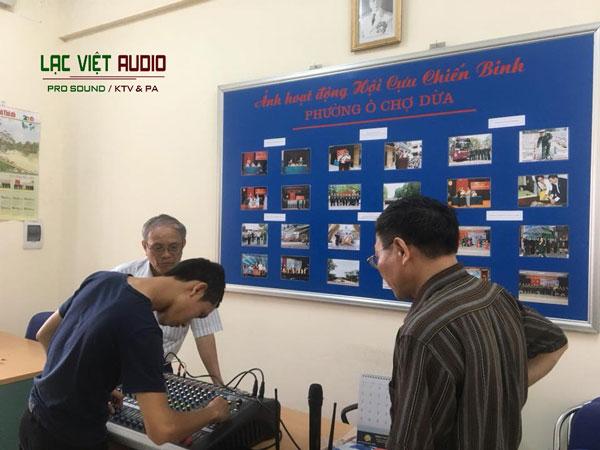 Lắp đặt hệ thống âm thanh hội trường cho Hội Cựu chiến binh Ô Chợ Dừa