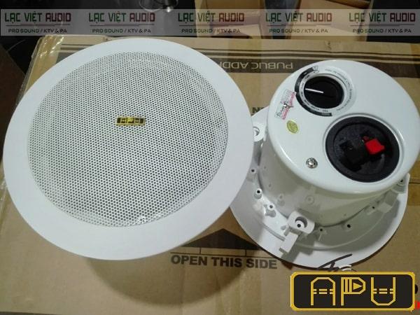 Loa âm trần APU có thiết kế gọn nhẹ cùng chất lượng âm thanh tuyệt vời