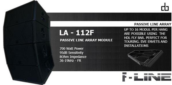 Thiết kế nhỏ gọn loa Array DB LA112F