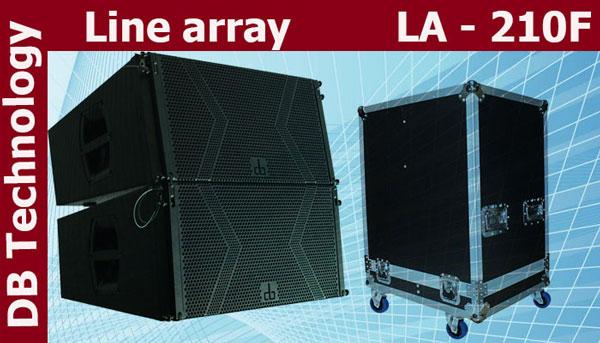 Loa Array DB LA210F được bảo quản trong tủ rack
