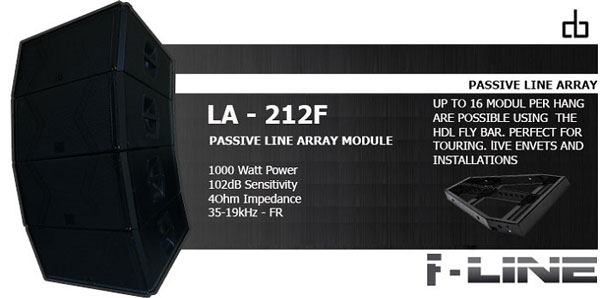 Thông số kỹ thuật loa Array DB LA212F