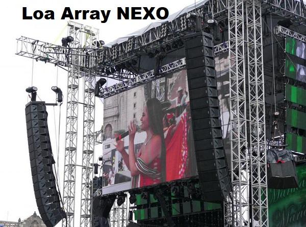 Loa array Nexo sân khấu chuyên nghiệp