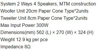 Thông số kỹ thuật loa BMB CSR800