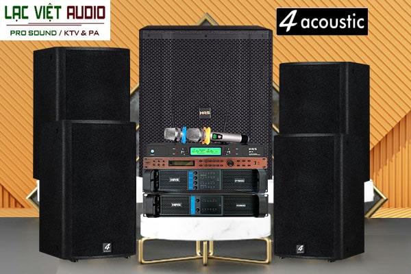 Loa karaoke 4 Acoustic được sử dụng phổ biến trong các dàn karaoke chuyên nghiệp
