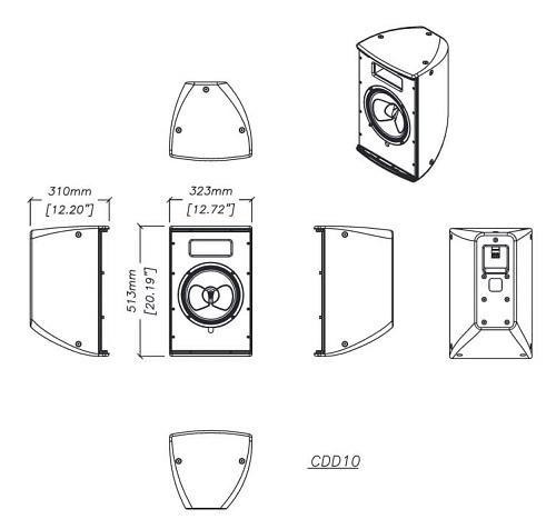 Bản vẻ kỹ thuật thùng loa Martin CDD10
