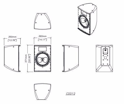 Thiết kế vỏ thùng loa Martin CDD12