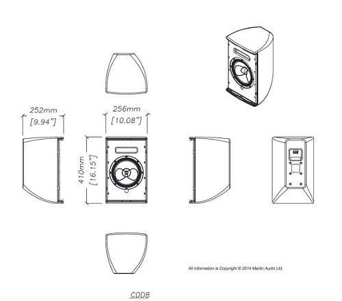 Bản vẻ thùng loa martin CDD8