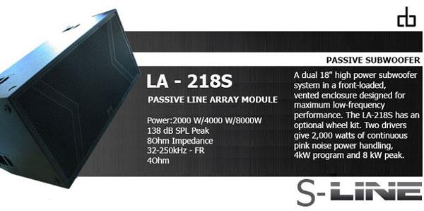 Loa sub DB LA218S mạnh mẽ uy lực