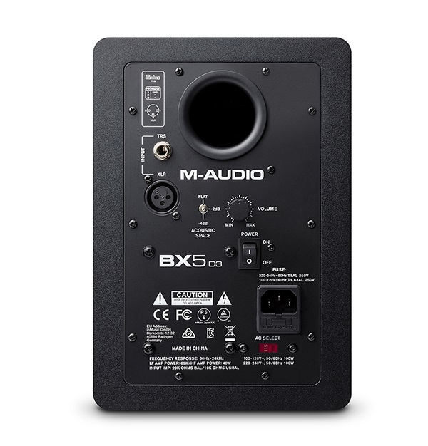 Thiết kế cực kỳ chi tiết của loa kiểm âm M-Audio BX5-D3 tiếng siêu sạch