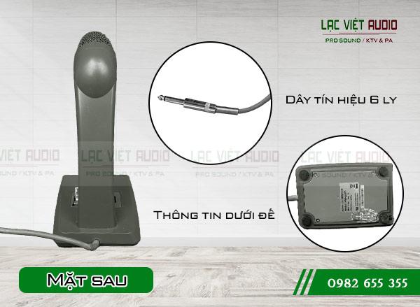 Mặt sau sản phẩm Micro để bàn TOA PM-660D