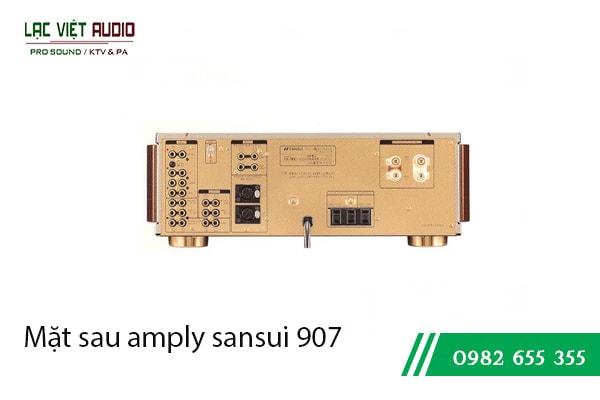 Mặt sau amply sansui 907