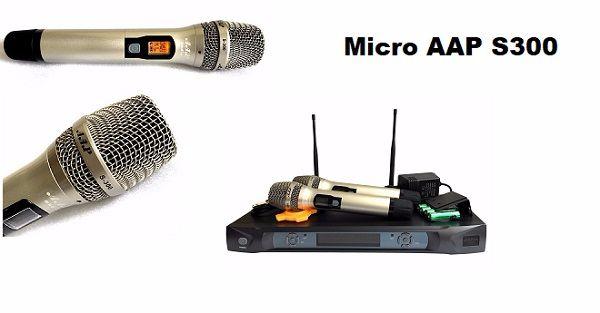 Micro AAP S300 sản phẩm micro không dây chất lượng
