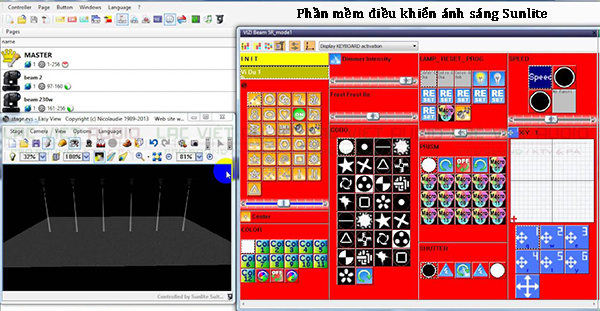 Phần mềm điều chỉnh Sunlite