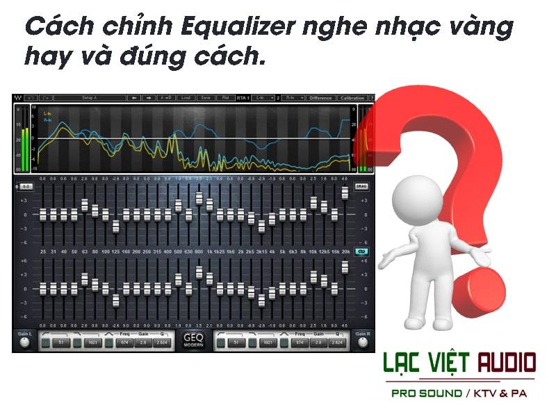 Các bước củacách chỉnh equalizer nghe nhạc hay gồm 4 bước chính.